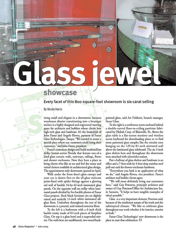 Glass Jewel Article