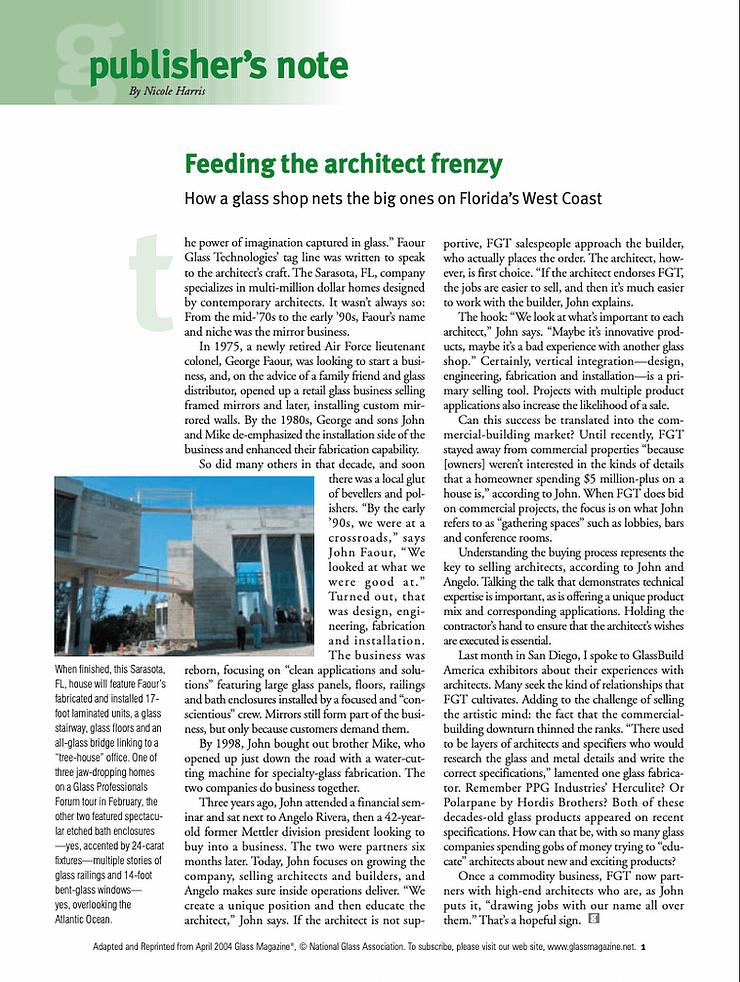 Feeding the architect frenzy