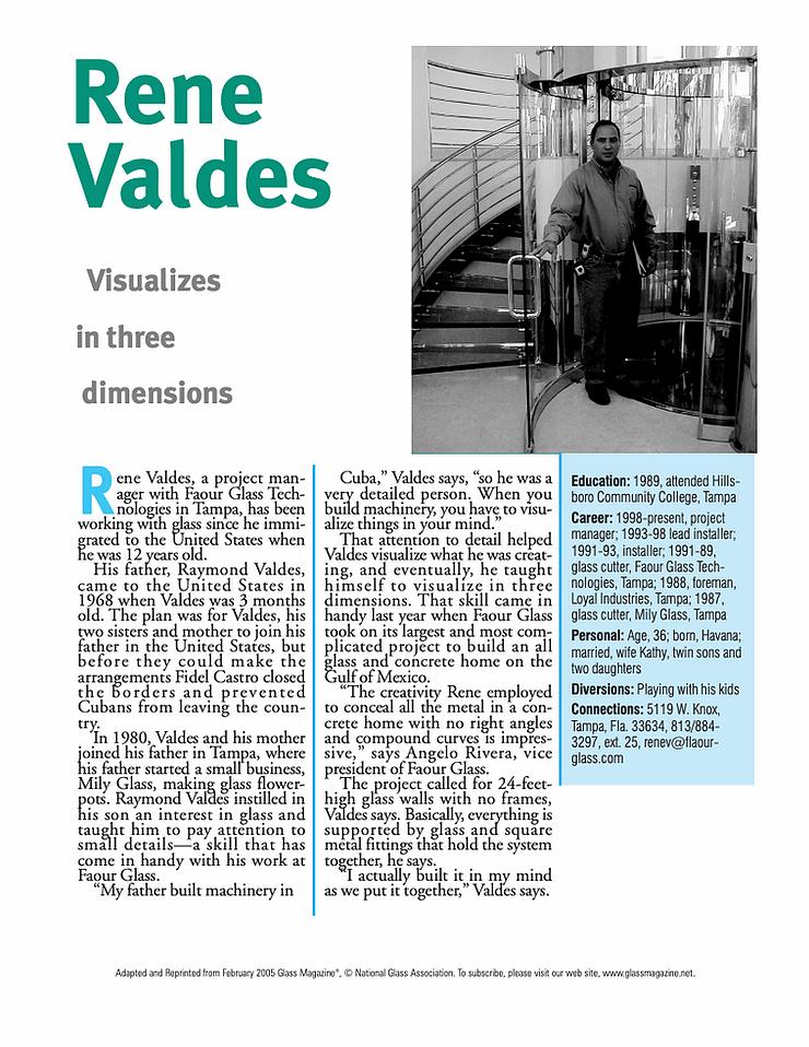 Rene Valdes Article