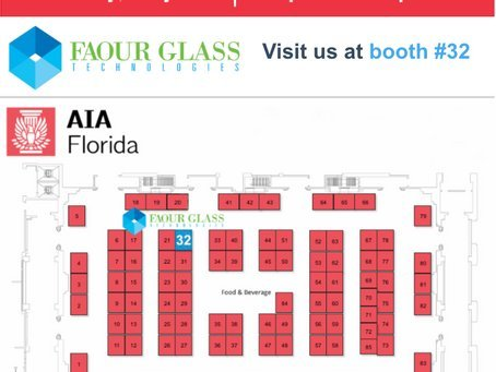 Faour Glass Exhibiting at 2019 FL AIA Trade Show